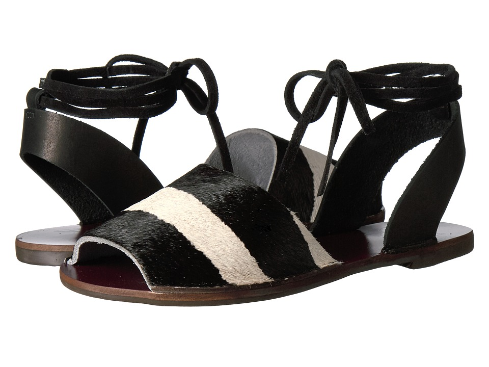Warm Creature - Sloan (Black/White) Women's Sandals