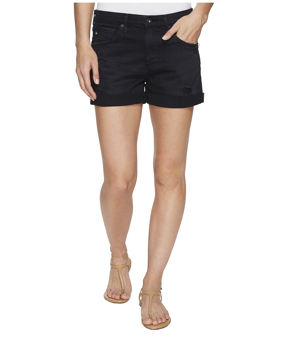 AG Adriano Goldschmied - Hailey Boyfriend Shorts in Sulfur Black Terrain (Sulfur Black Terrain) Women's Shorts