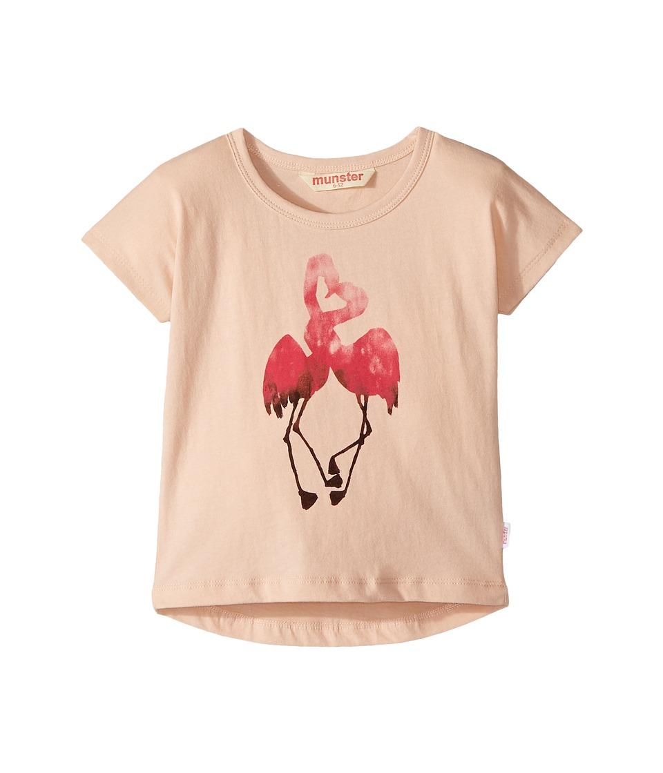 Munster Kids - Kiss Tee (Infant/Toddler) (Blush) Girl's T Shirt