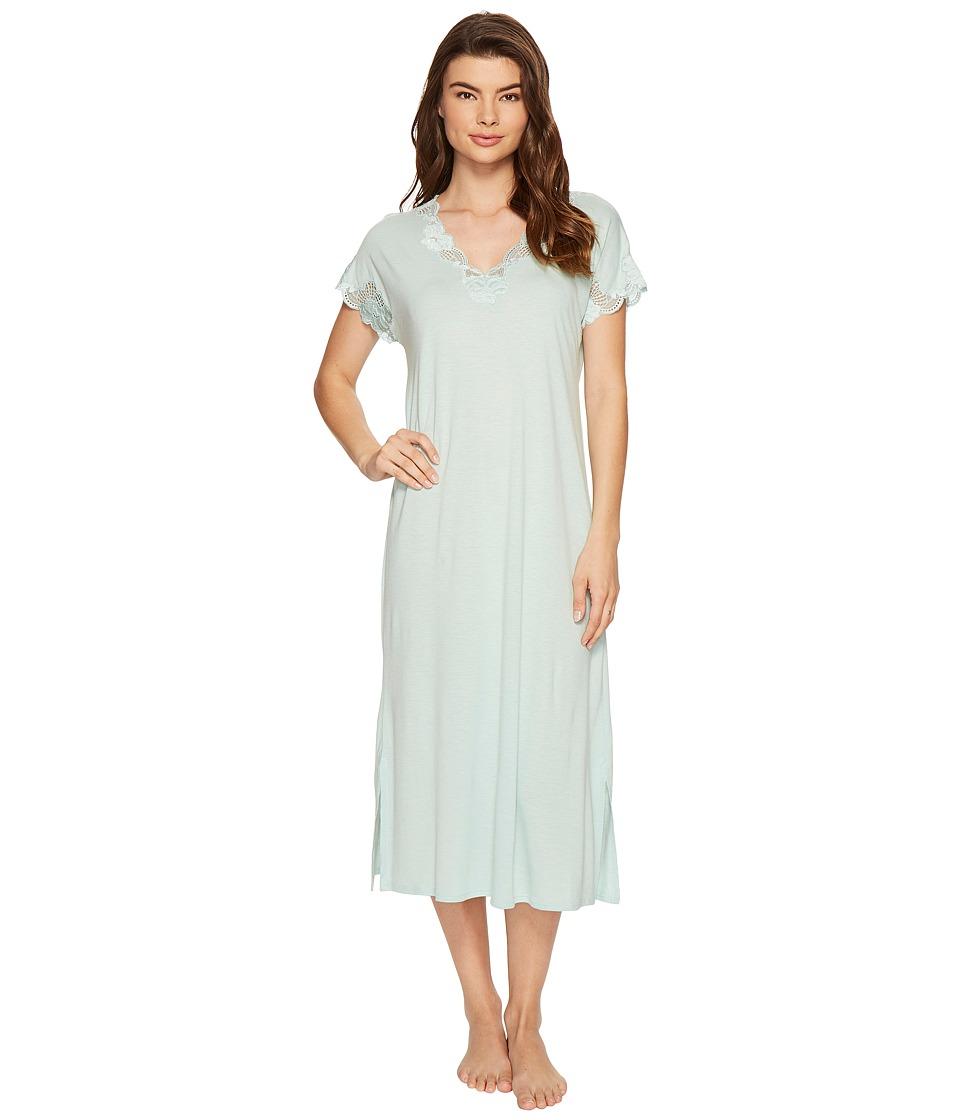 Natori - Zen Floral Nightgown (Heather Ocean Wave) Women's Pajama