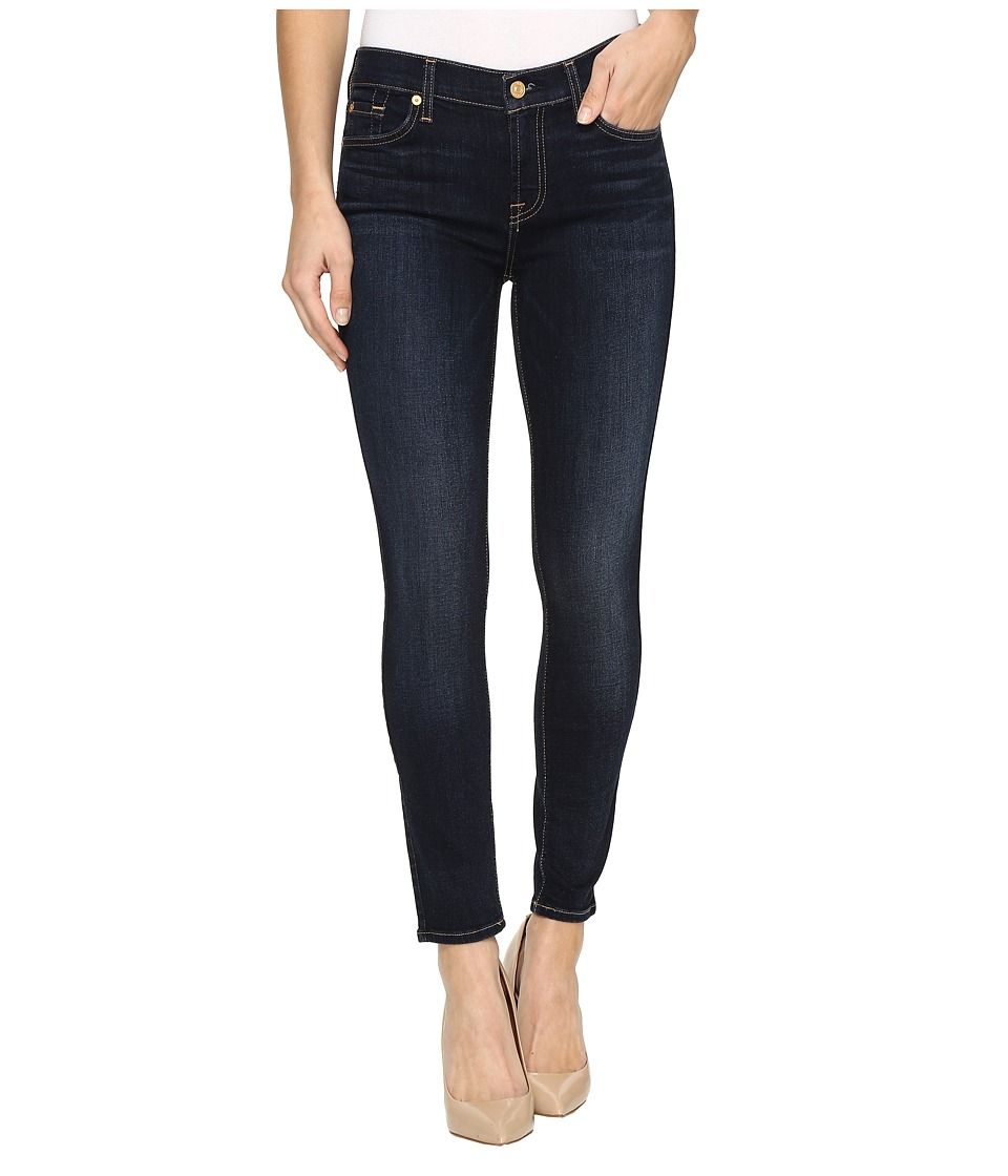 Image of 7 For All Mankind - Ankle Skinny in Dark Moonlight Bay (Dark Moonlight Bay) Women's Jeans