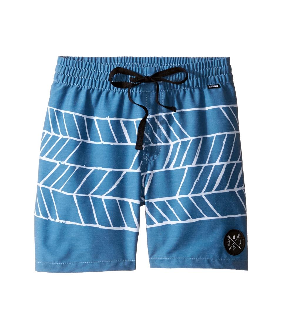 Munster Kids - Rhombie Boardshorts (Toddler/Little Kids/Big Kids) (Blue) Boy's Swimwear