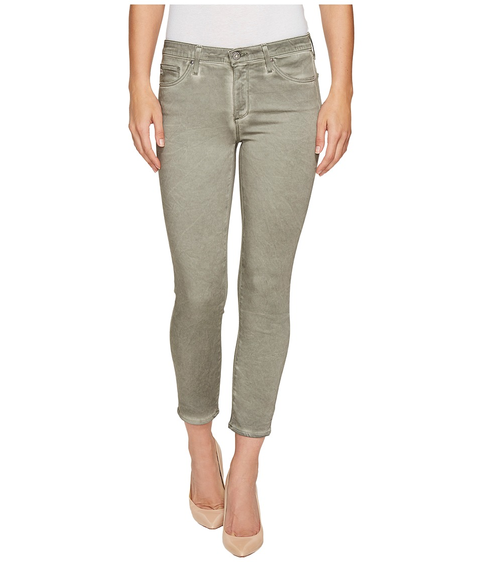 AG Adriano Goldschmied Prima Crop Mid-Rise Cigarette Leg in Seasoaked Silver Sage (Seasoaked Silver Sage) Women