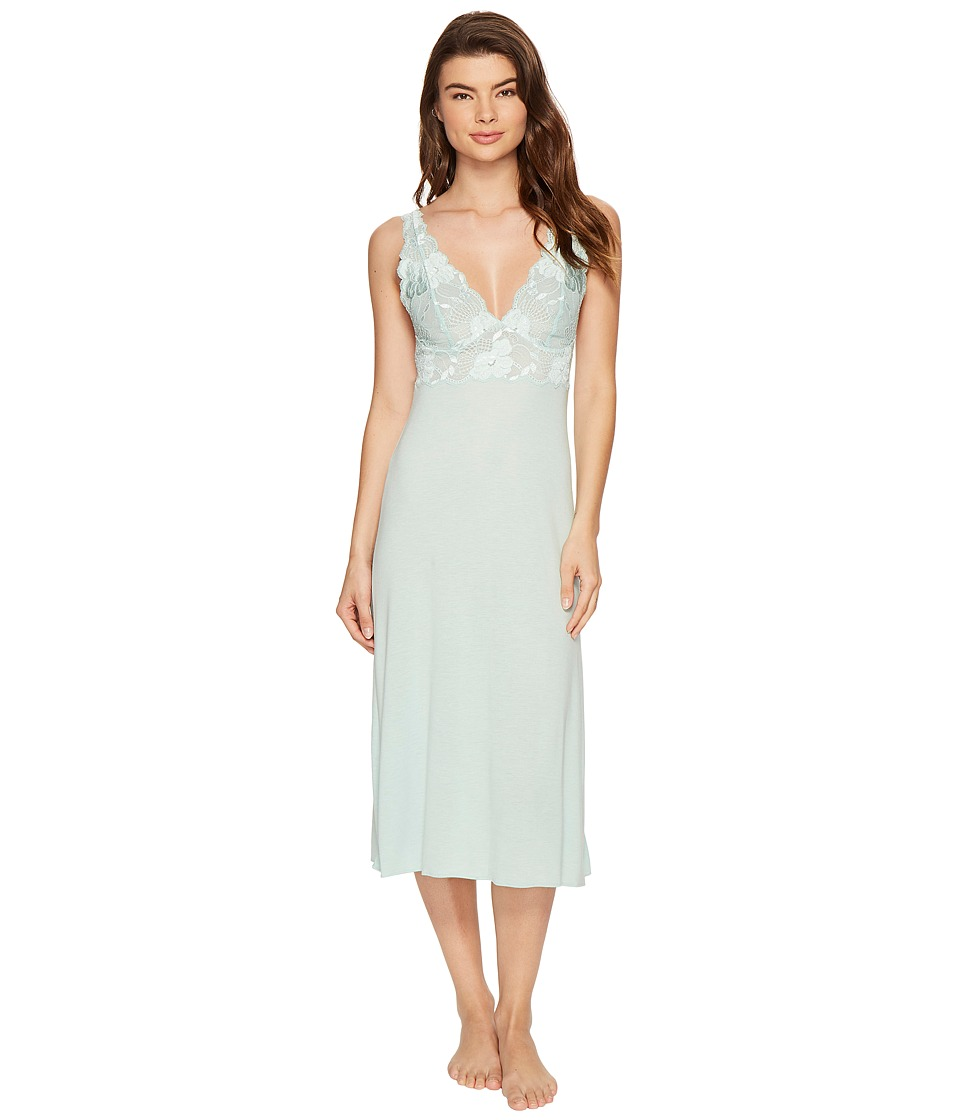 Natori - Zen Floral Gown (Heather Ocean Wave) Women's Pajama