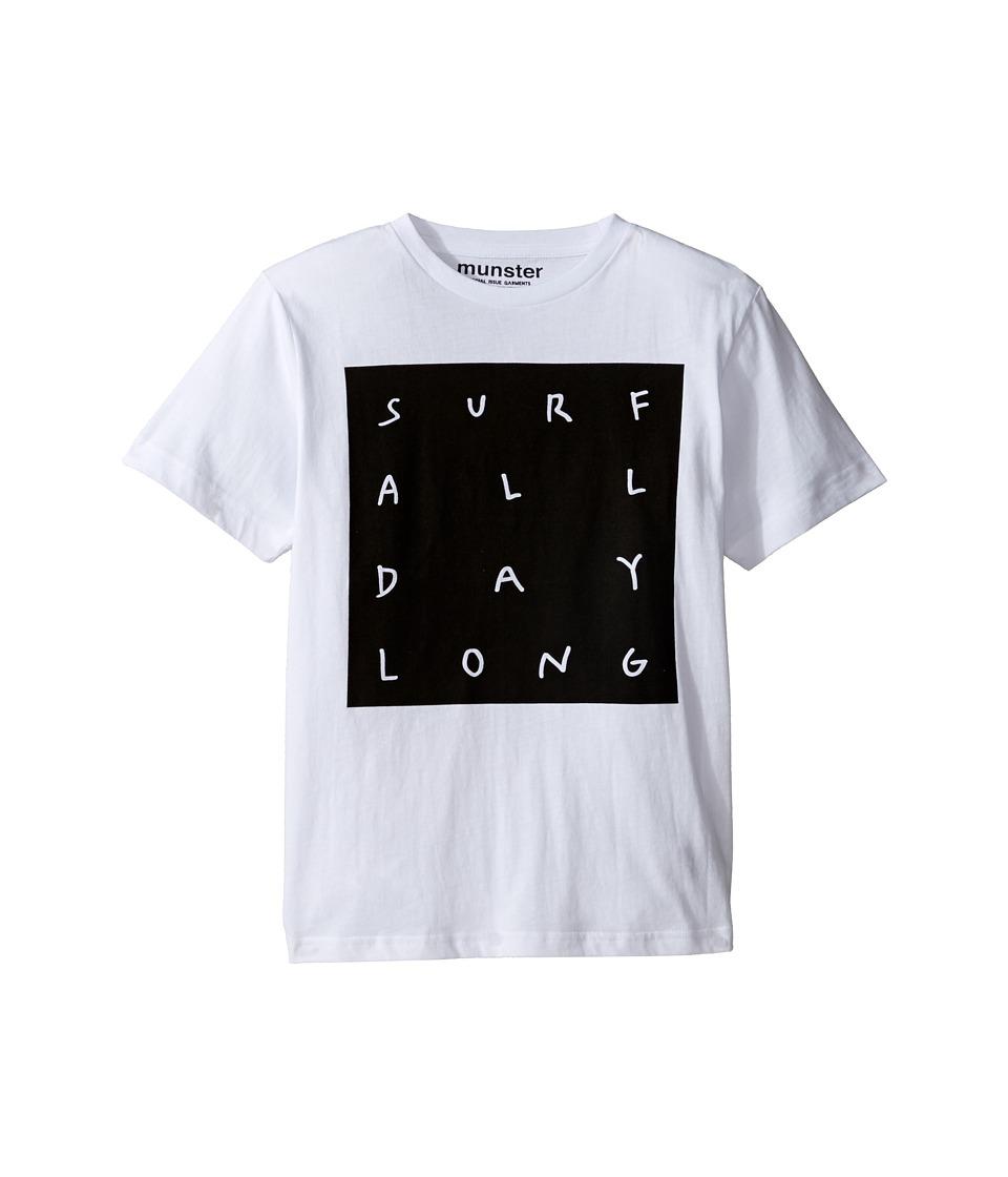 Munster Kids - All Day Tee (Toddler/Little Kids/Big Kids) (White) Boy's T Shirt