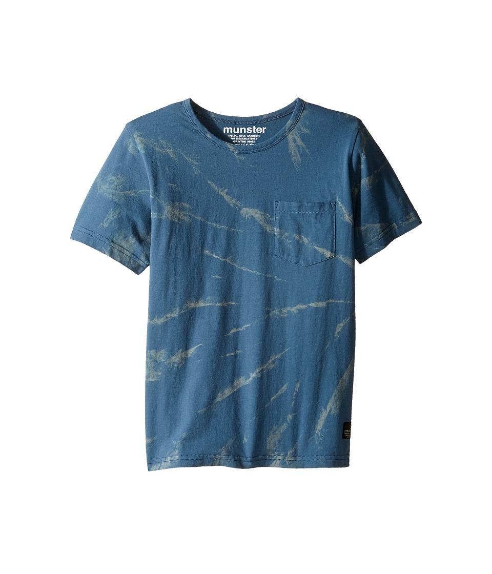 Munster Kids - Moulded Tee (Toddler/Little Kids/Big Kids) (Blue) Boy's T Shirt