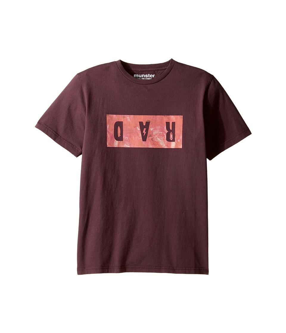 Munster Kids - Dar Tee (Toddler/Little Kids/Big Kids) (Grape) Boy's T Shirt