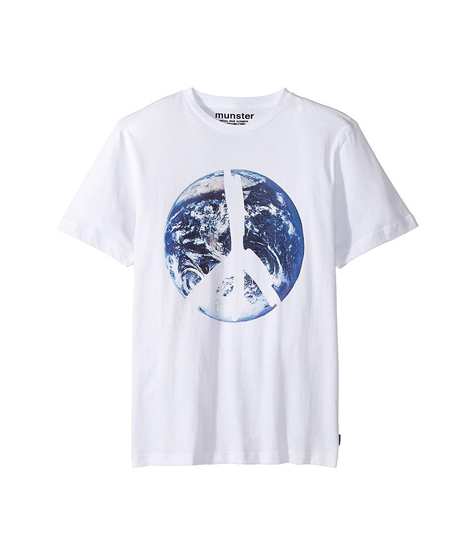 Munster Kids - One World Tee (Toddler/Little Kids/Big Kids) (White) Boy's T Shirt