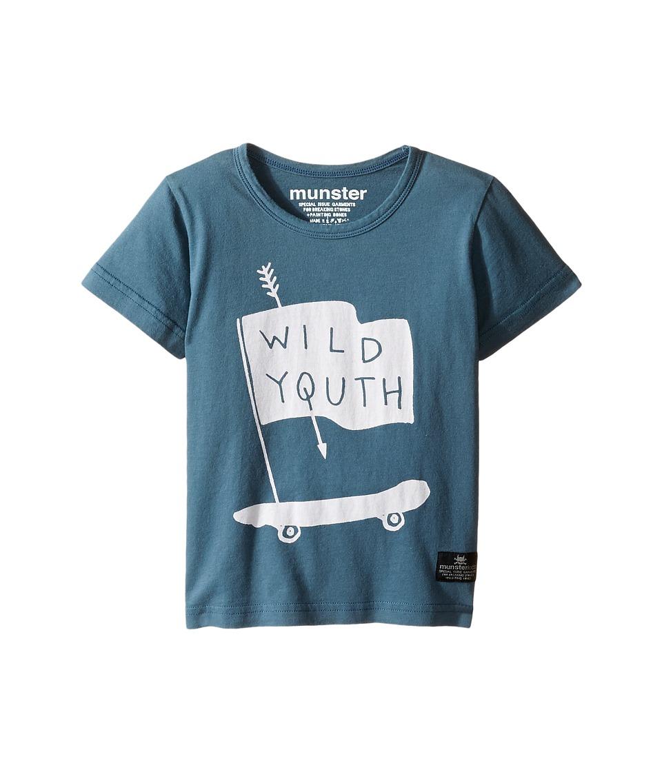 Munster Kids - Wild Wheels Tee (Toddler/Little Kids/Big Kids) (Blue) Boy's T Shirt