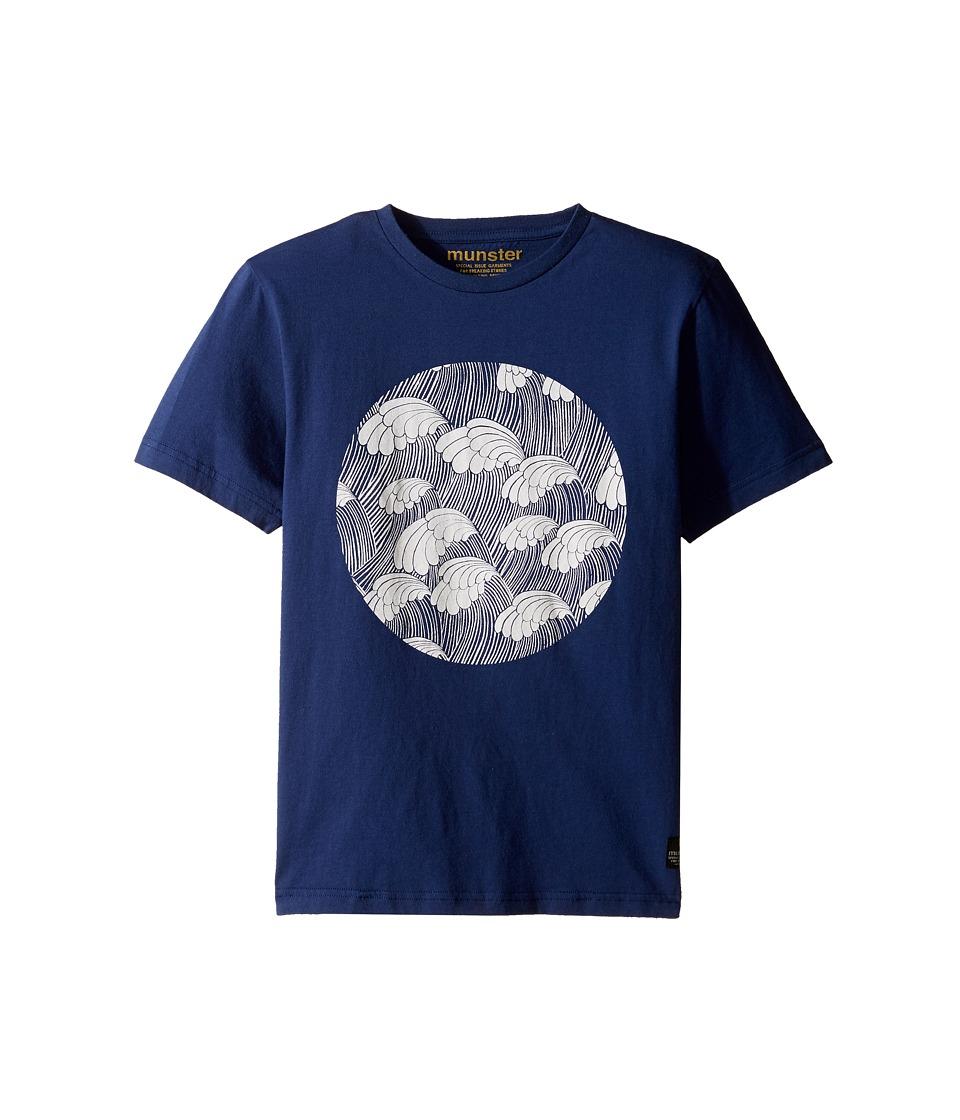 Munster Kids - Peaks Tee (Toddler/Little Kids/Big Kids) (Navy) Boy's T Shirt