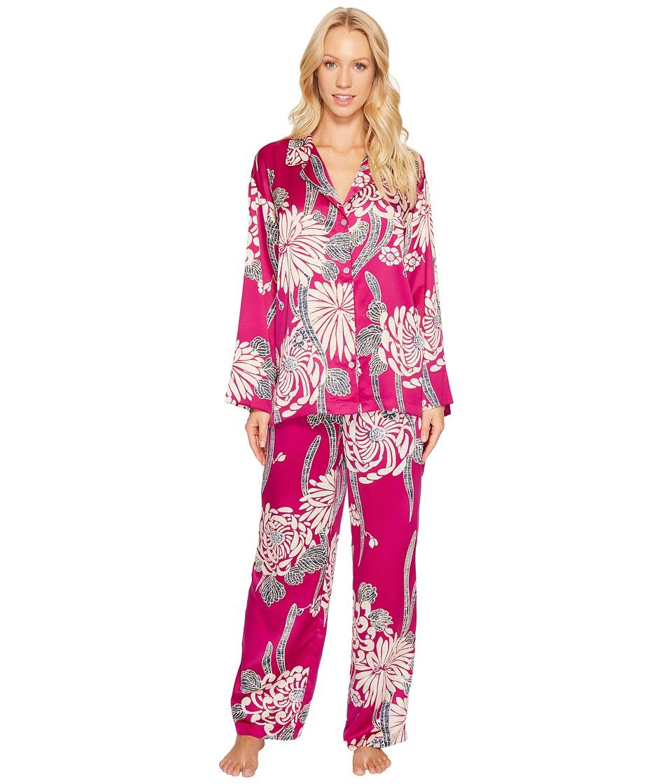 Natori - Aizome Notch Pajama (Petunia) Women's Pajama Sets