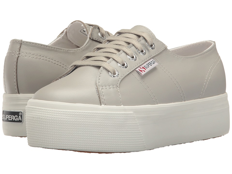 Superga - 2750 FGLU Platform (Grey) Women's Lace up casual Shoes