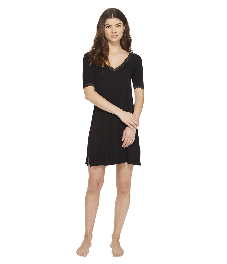 Natori - Feathers Sleepshirt (Black) Women's Pajama