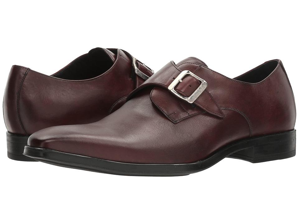 Massimo Matteo - Single Monk Classic (Bordo) Men's Monkstrap Shoes
