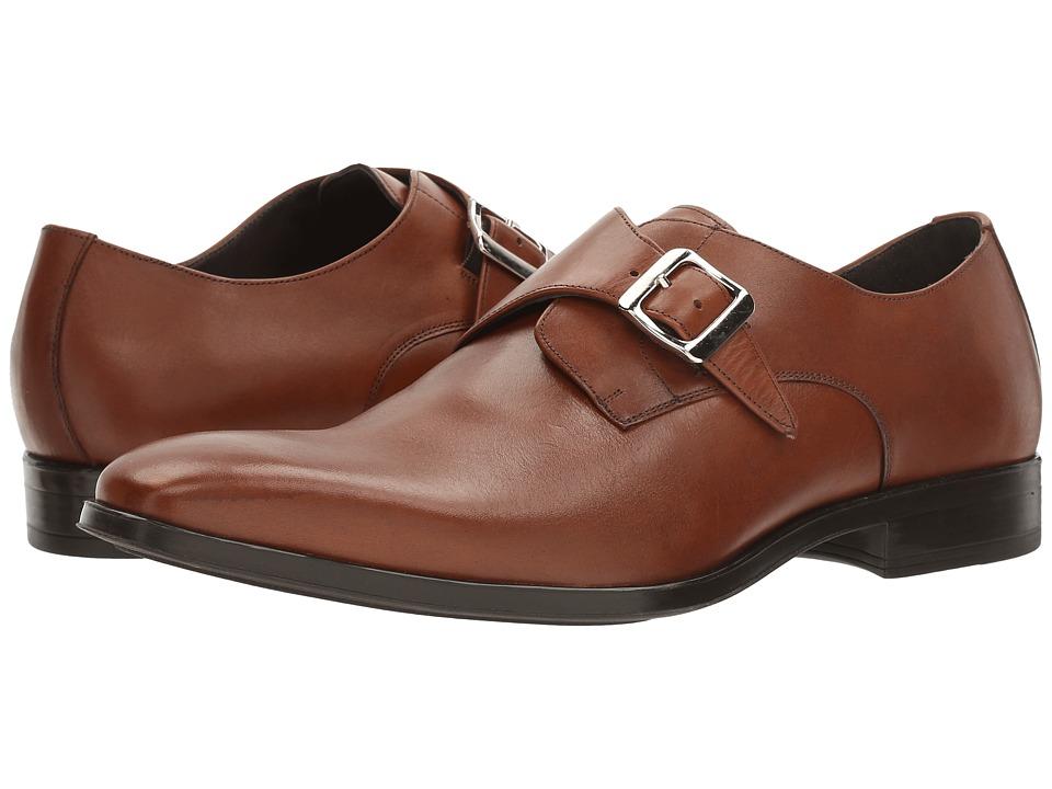 Massimo Matteo - Single Monk Classic (Tan) Men's Monkstrap Shoes