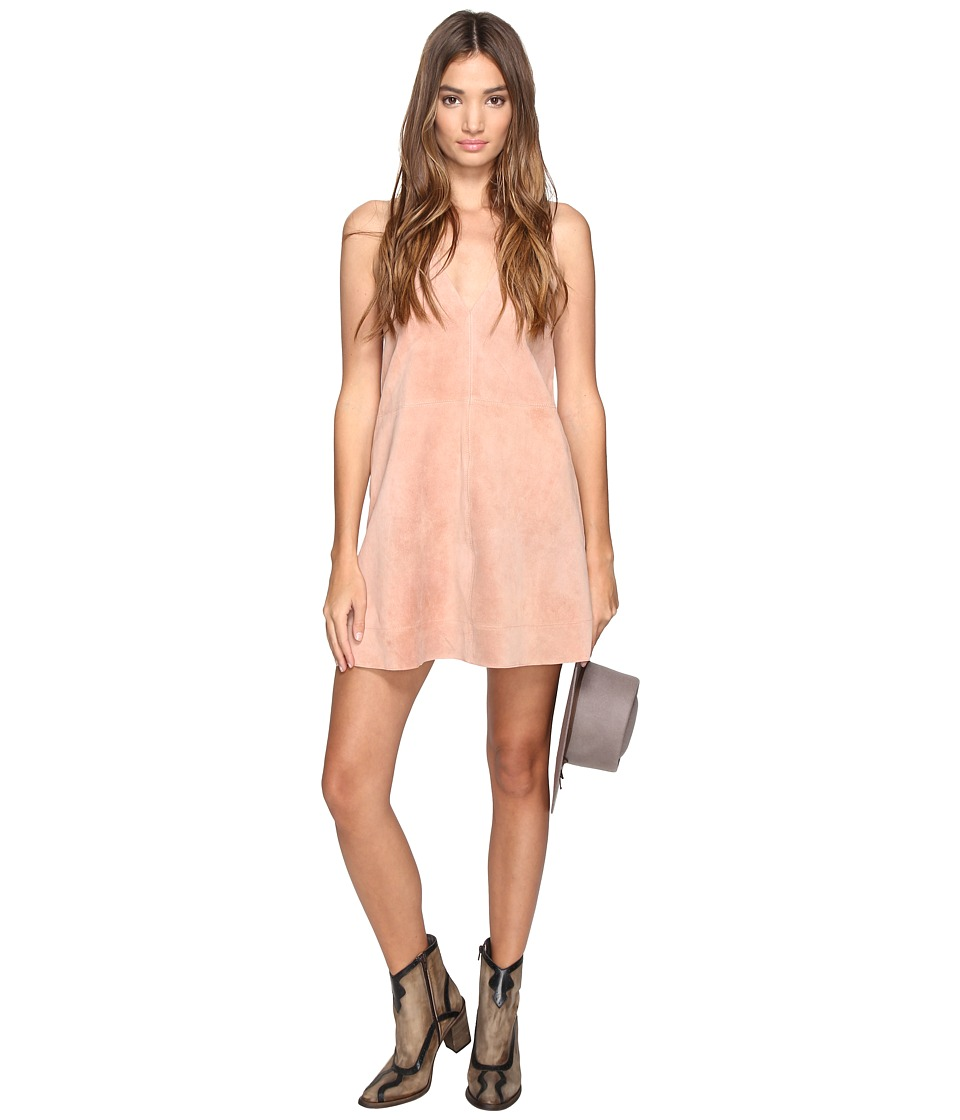 Free People - Retro Love Suede Dress (Dark Pink) Women's Dress