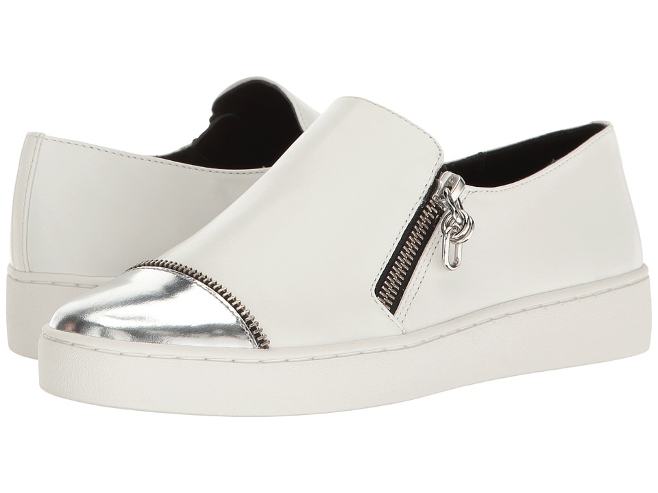 Michael Kors Grayson (Optic White/Silver Smooth Calf/Specchio) Women