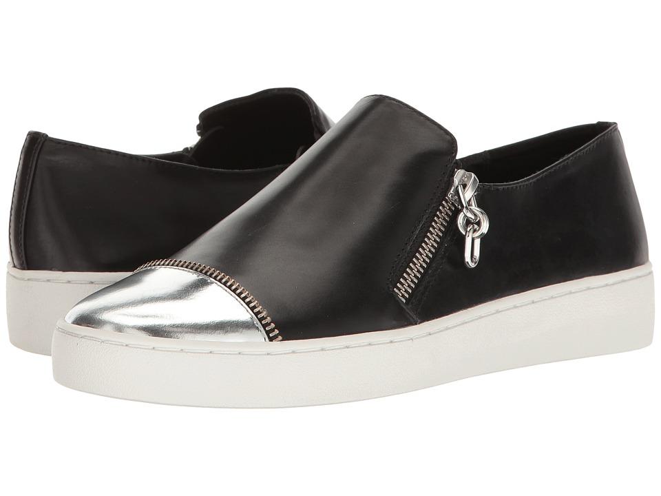 Michael Kors - Grayson (Black/Silver Smooth Calf/Specchio) Women's Slip on Shoes