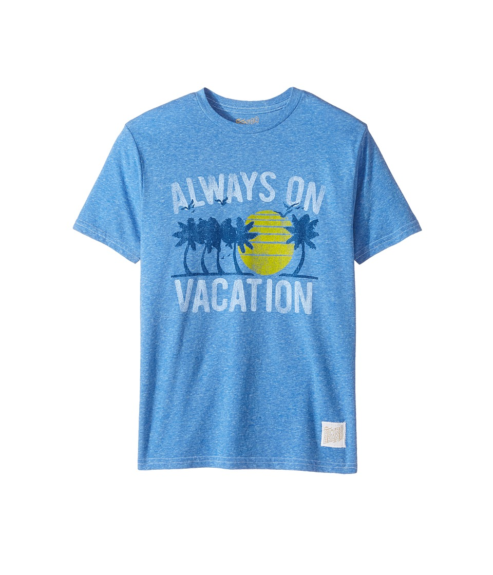 The Original Retro Brand Kids - Living in Paradise Short Sleeve Tri-Blend Tee (Big Kids) (Streaky Royal) Boy's T Shirt