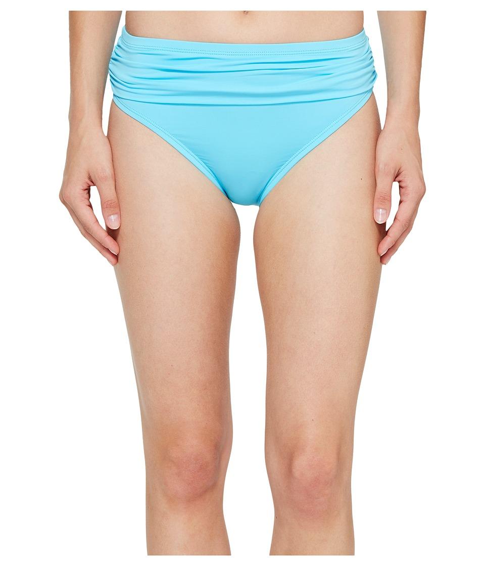 Tommy Bahama - Pearl High-Waist Hipster Bikini Bottom (True Turquoise) Women's Swimwear