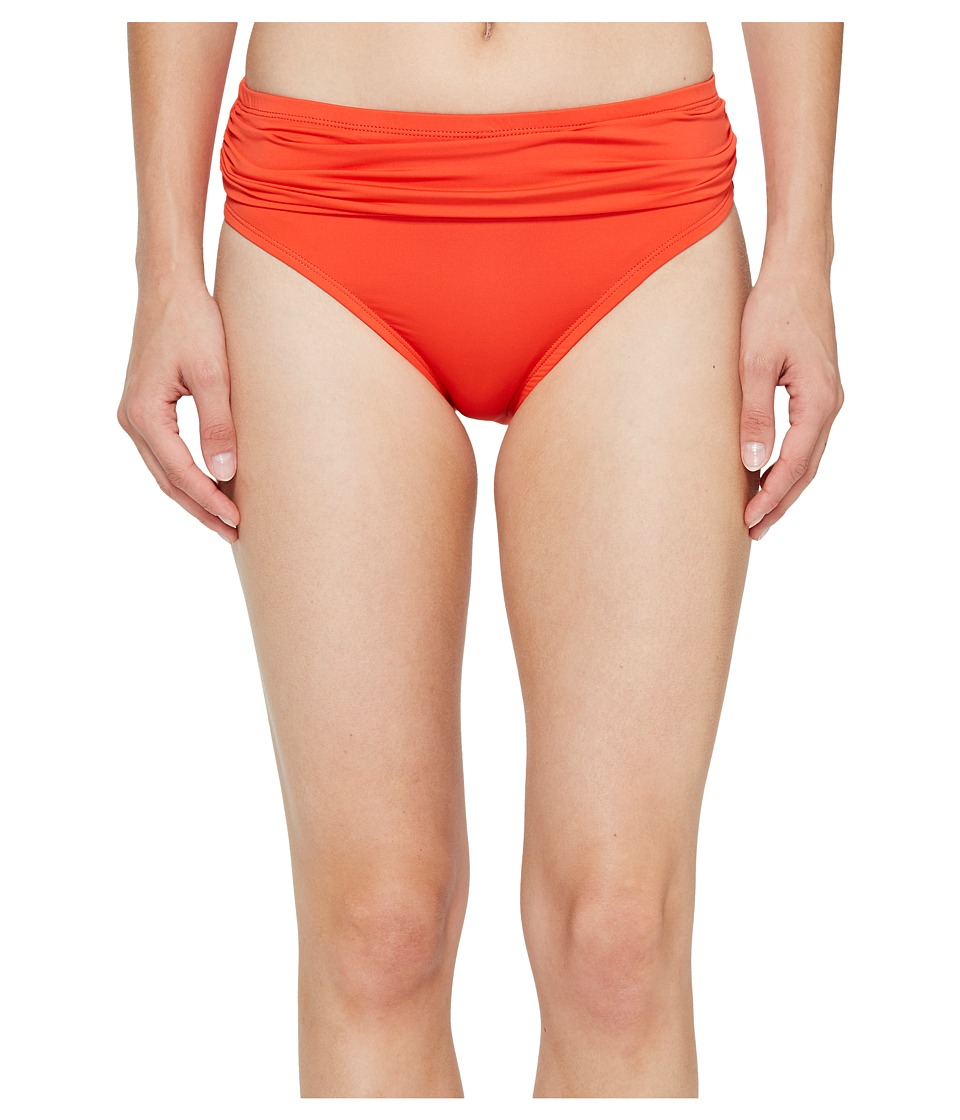 Tommy Bahama - Pearl High-Waist Hipster Bikini Bottom (Valencia Orange) Women's Swimwear
