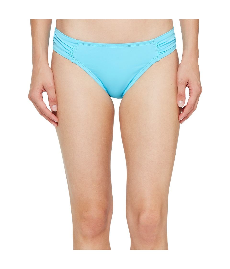 Tommy Bahama Pearl Side-Shirred Hipster Bikini Bottom (True Turquoise) Women