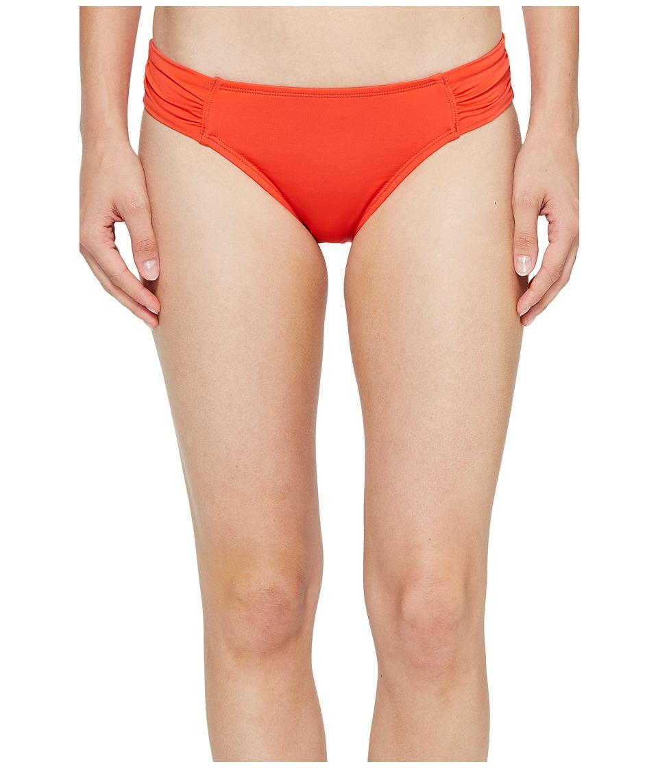 Tommy Bahama Pearl Side-Shirred Hipster Bikini Bottom (Valencia Orange) Women