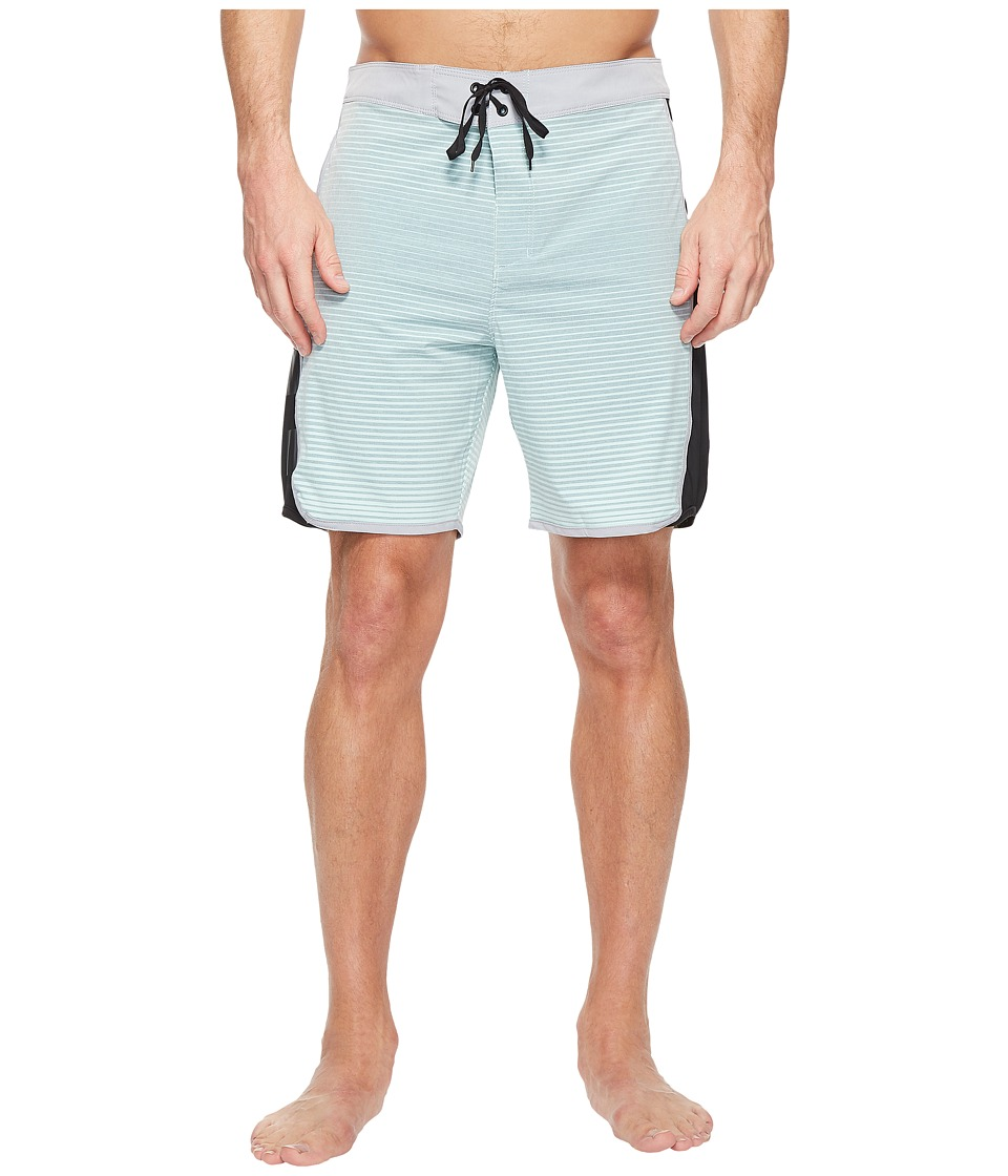 Hurley - Phantom Motion Stripe 19 Boardshorts (Mint Foam) Men's Swimwear