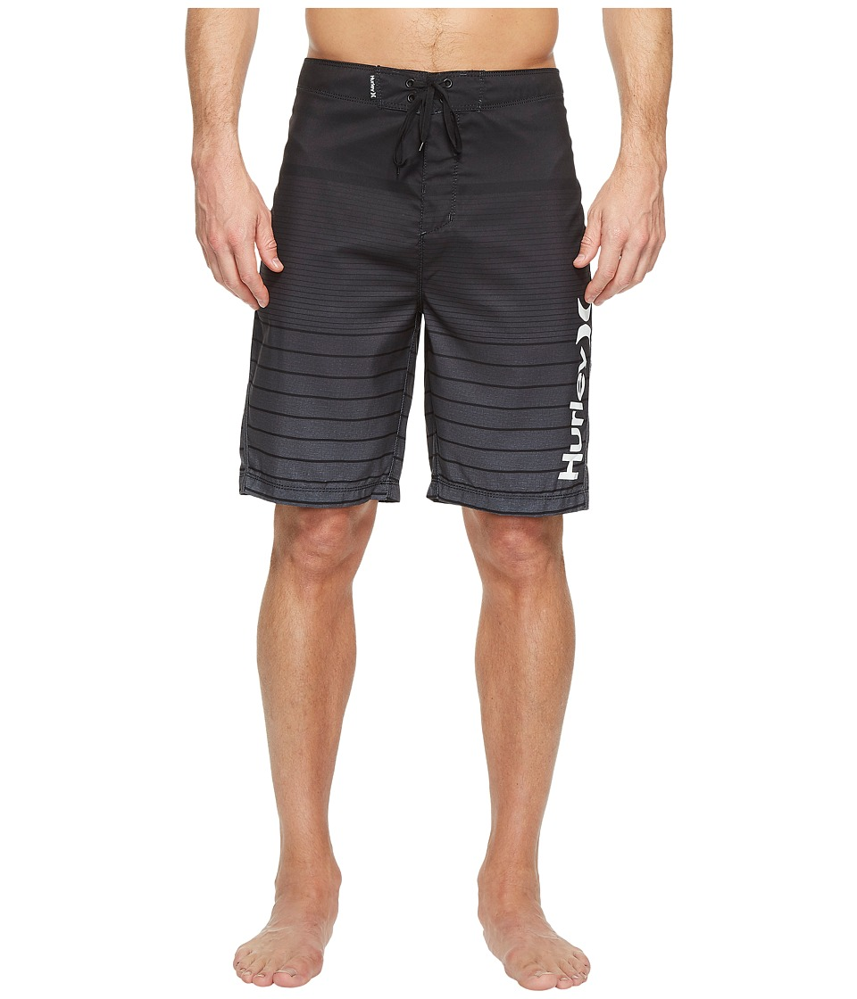 Hurley - Adams 21 Boardshorts (Black) Men's Swimwear