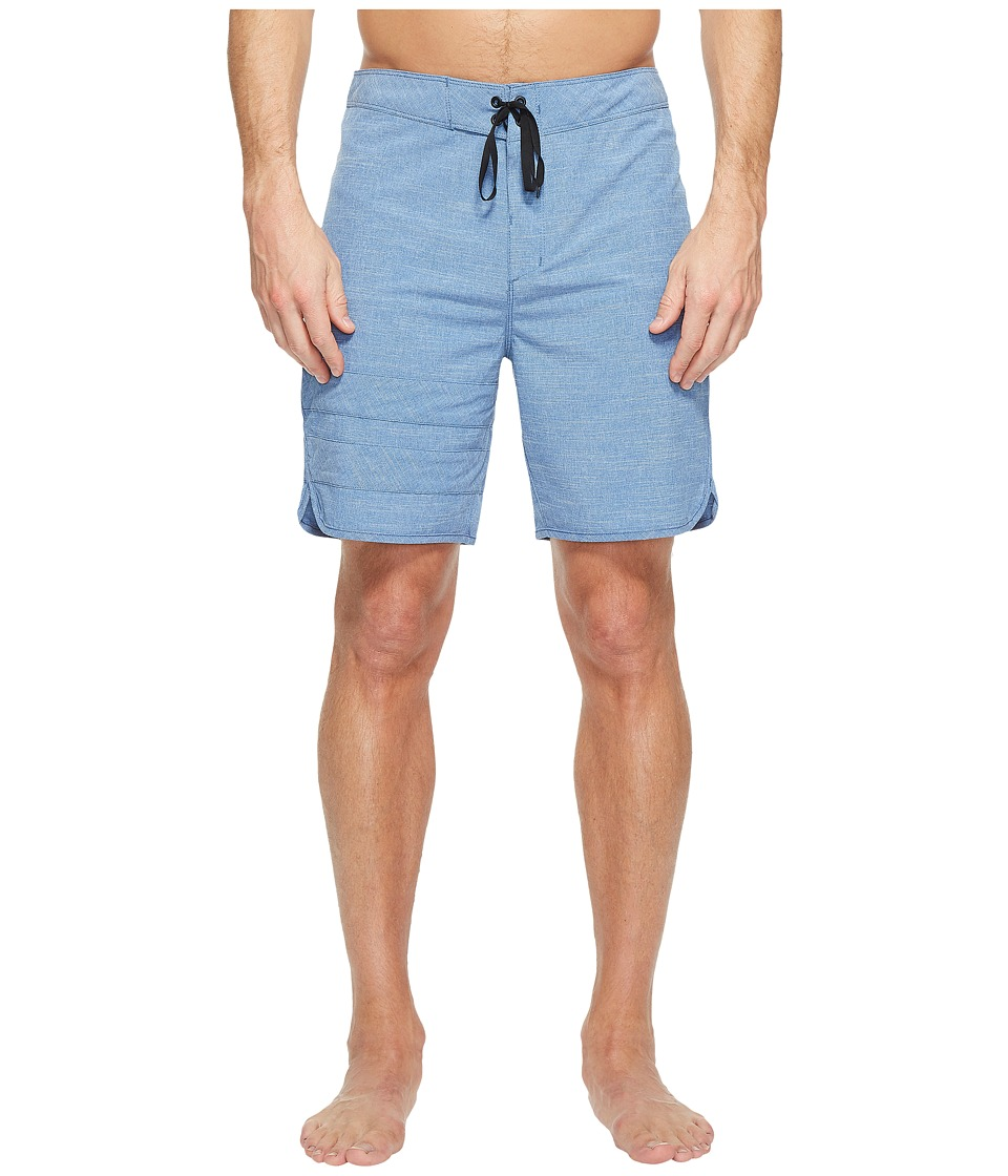 Hurley Phantom Block Party Slub 18 Boardshorts (Gym Blue) Men