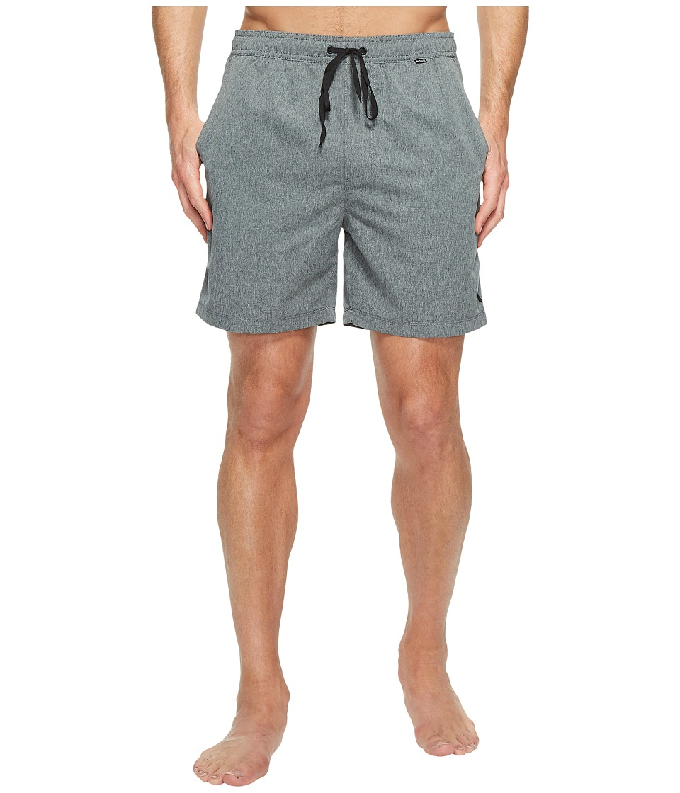 Hurley - One Only Heathered Volley 2.0 (Black) Men's Swimwear