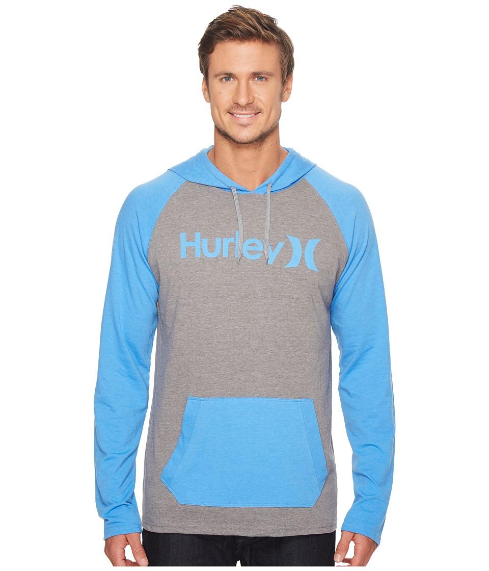 Hurley - One Only Raglan Jersey Hoodie (Dark Grey Heather) Men's Sweatshirt