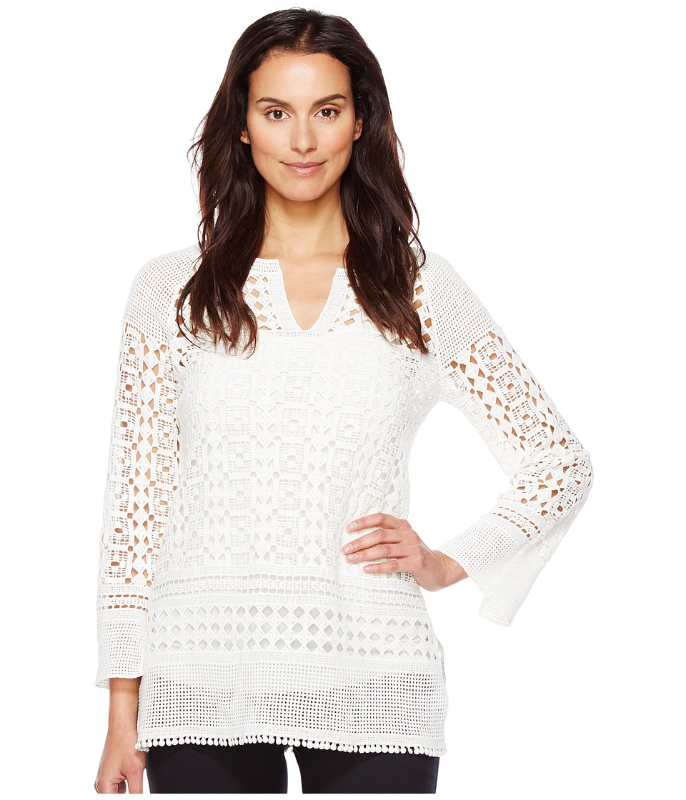 NIC+ZOE - Free Spirit Lace Tunic (Paper White) Women's Clothing