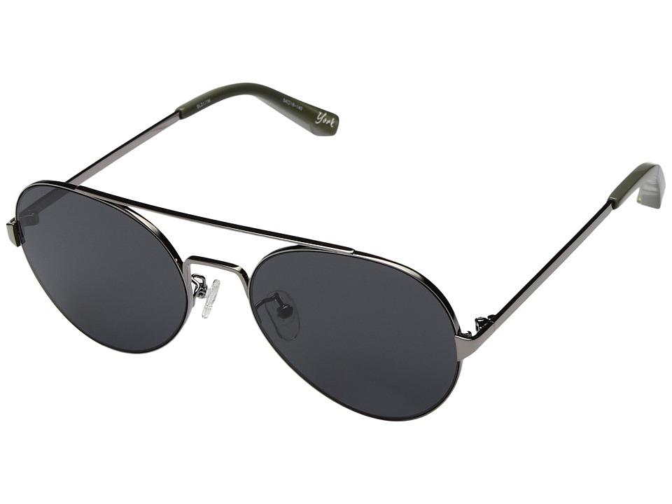 Elizabeth and James - York (Black/Smoke Mono Lens) Fashion Sunglasses
