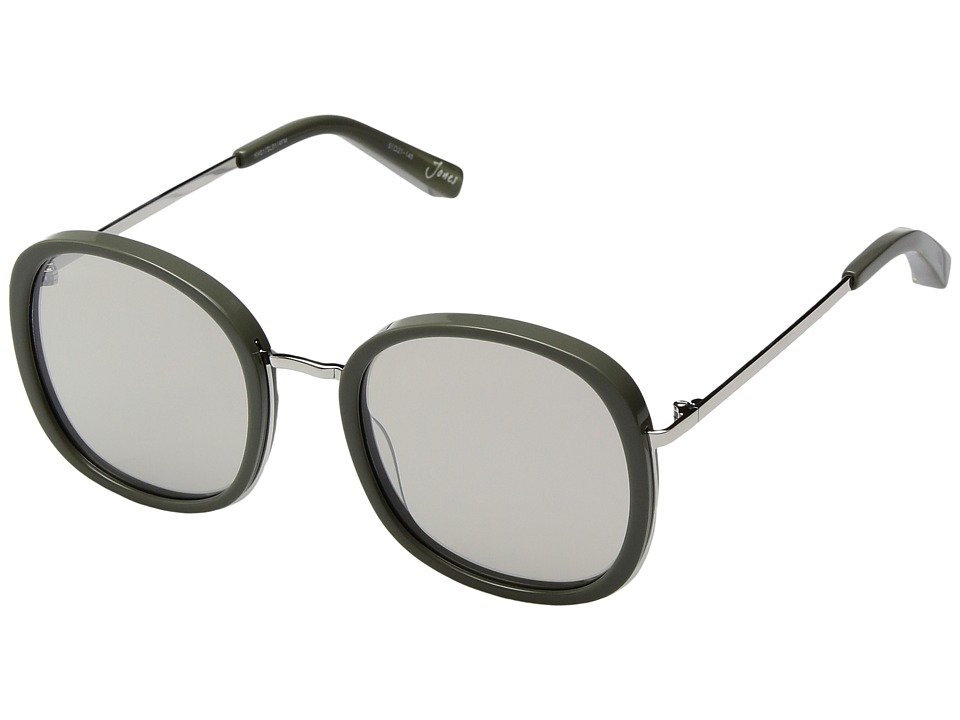 Elizabeth and James - Jones (Khaki/Silver/Khaki Mirror Lens) Fashion Sunglasses