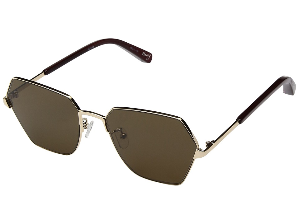 Elizabeth and James - Henly (Gold/Brown Mono Lens) Fashion Sunglasses
