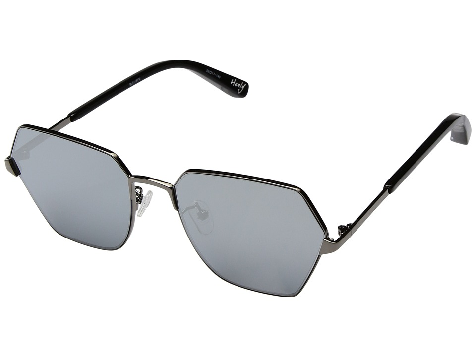 Elizabeth and James - Henly (Black/Silver Mirror Lens) Fashion Sunglasses