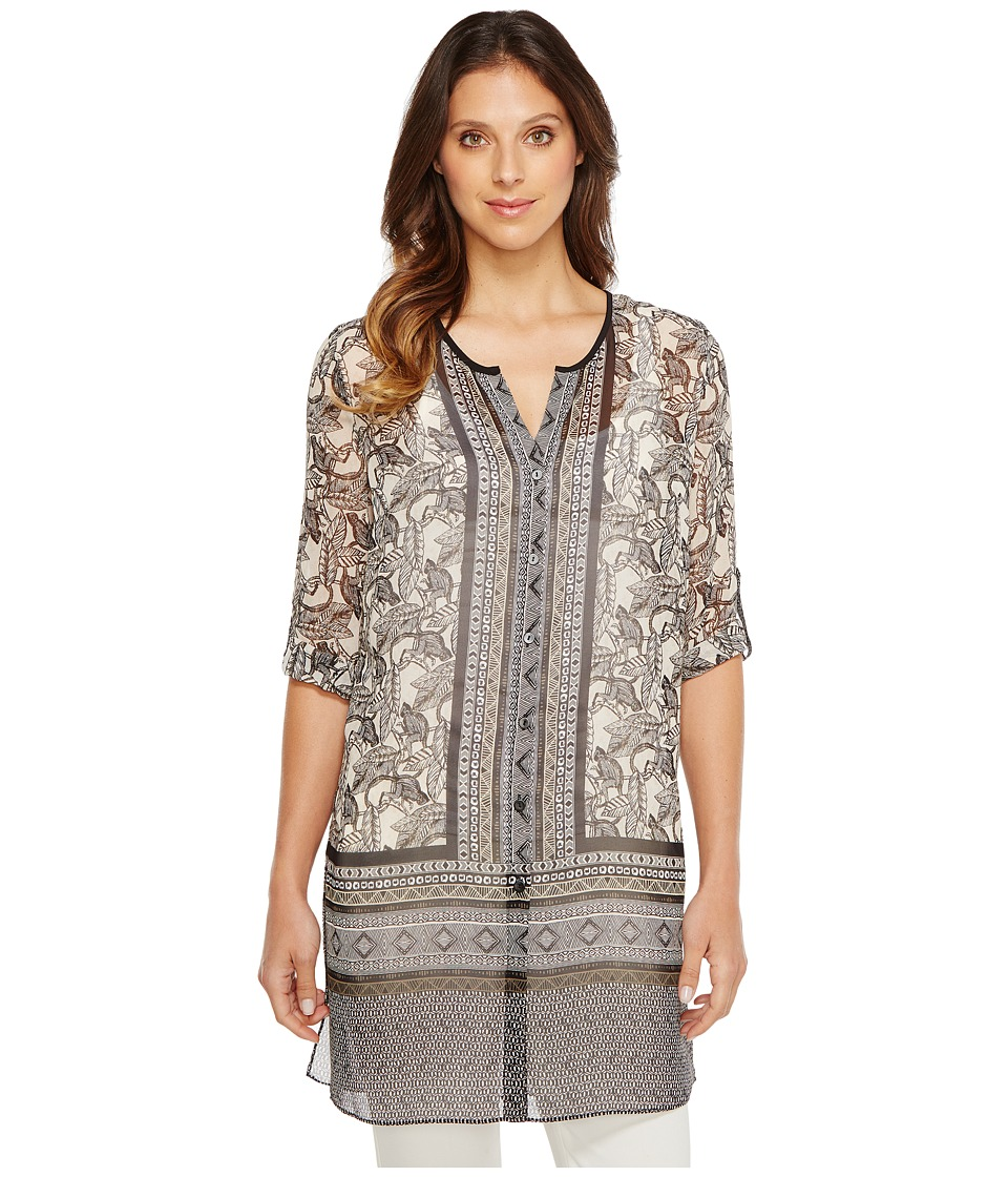 NIC+ZOE - Mirrored Monkeys Tunic Top (Multi) Women's Clothing
