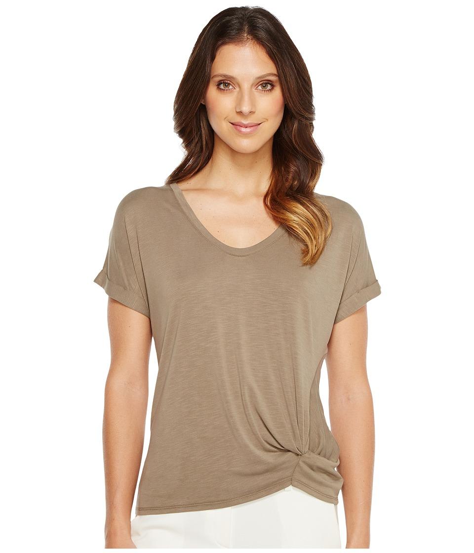 NIC+ZOE - Boardwalk Tee (Washed Marshland) Women's T Shirt