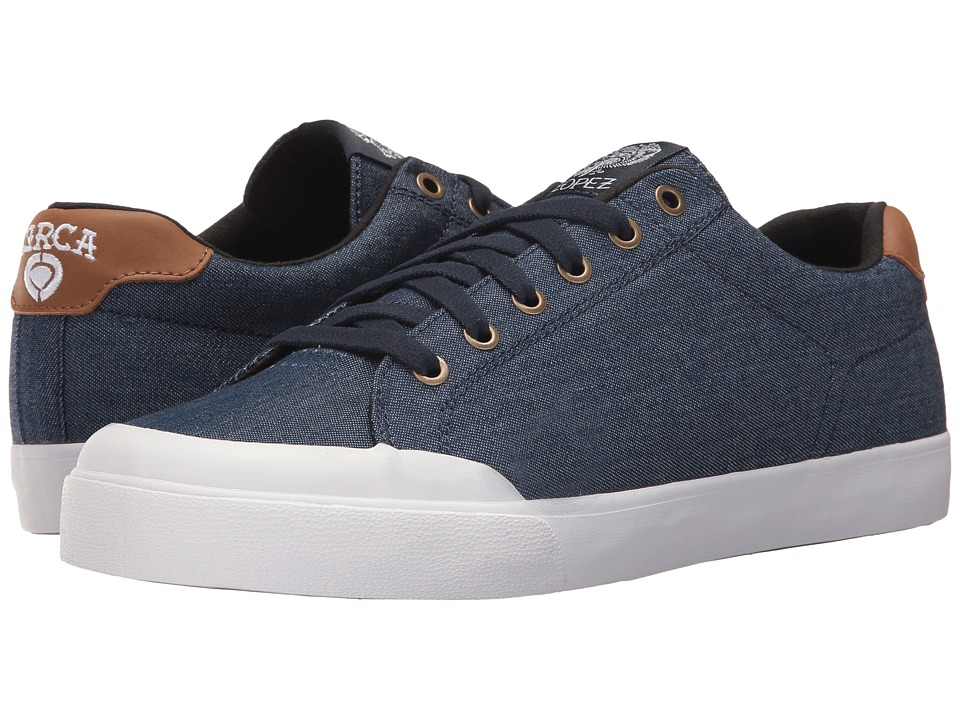 Circa - AL50R (Raw Denim/White) Men's Skate Shoes