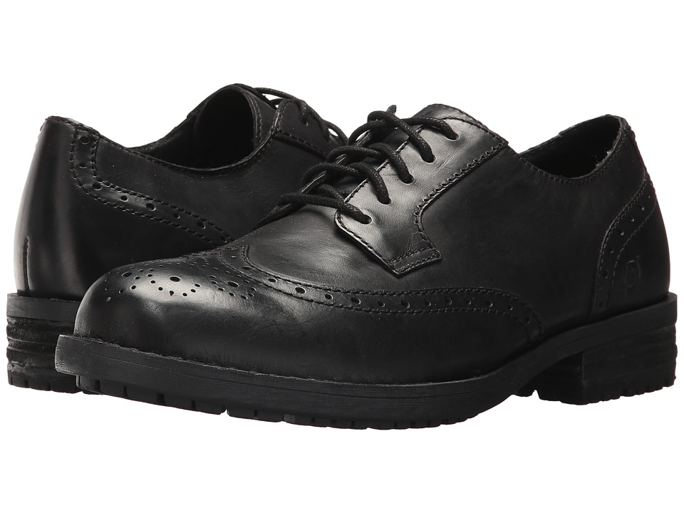 Born Alfred (Black Full Grain) Men's Lace-up Boots