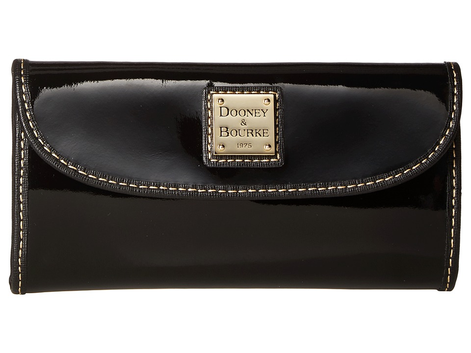 Dooney & Bourke - Patterson Continental Clutch (Black w/ Black Trim) Clutch Handbags
