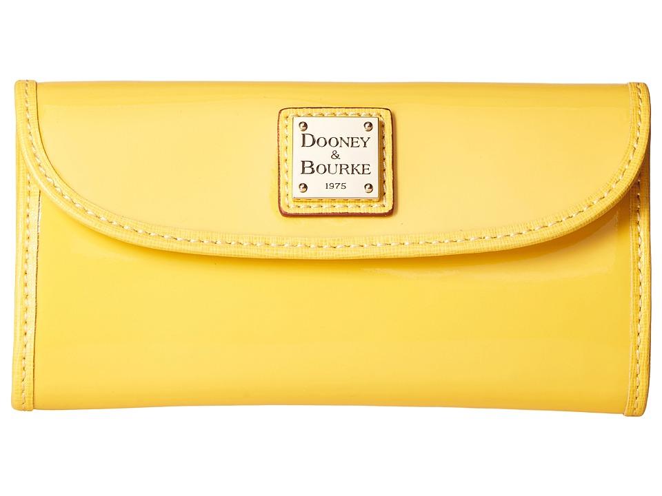 Dooney & Bourke - Patterson Continental Clutch (Dandelion w/ Black Trim) Clutch Handbags