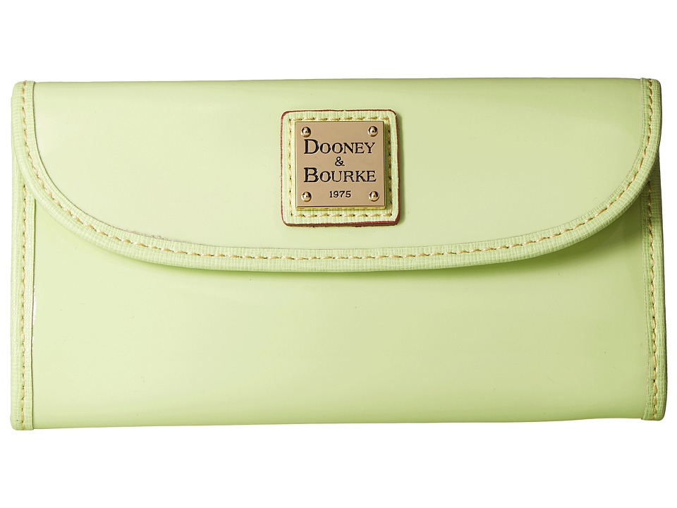 Dooney & Bourke - Patterson Continental Clutch (Key Lime w/ Key Lime Trim) Clutch Handbags