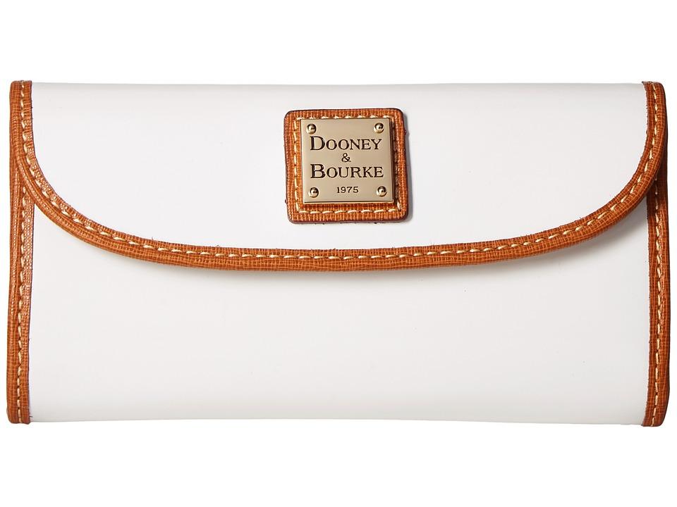 Dooney & Bourke - Patterson Continental Clutch (White w/ Natural Trim) Clutch Handbags