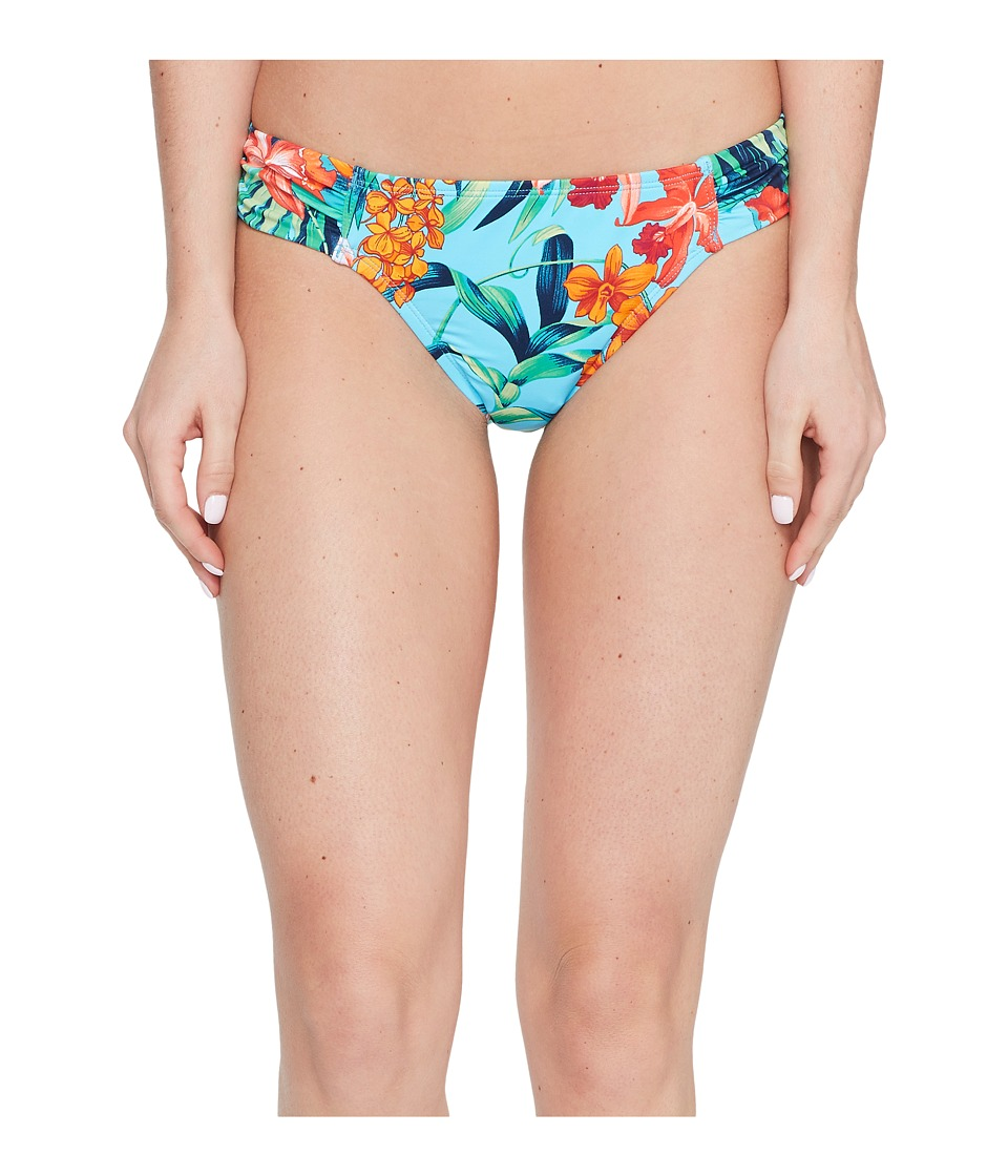 Tommy Bahama Floriana Side Shirred Hipster Bottom (True Turquoise) Women