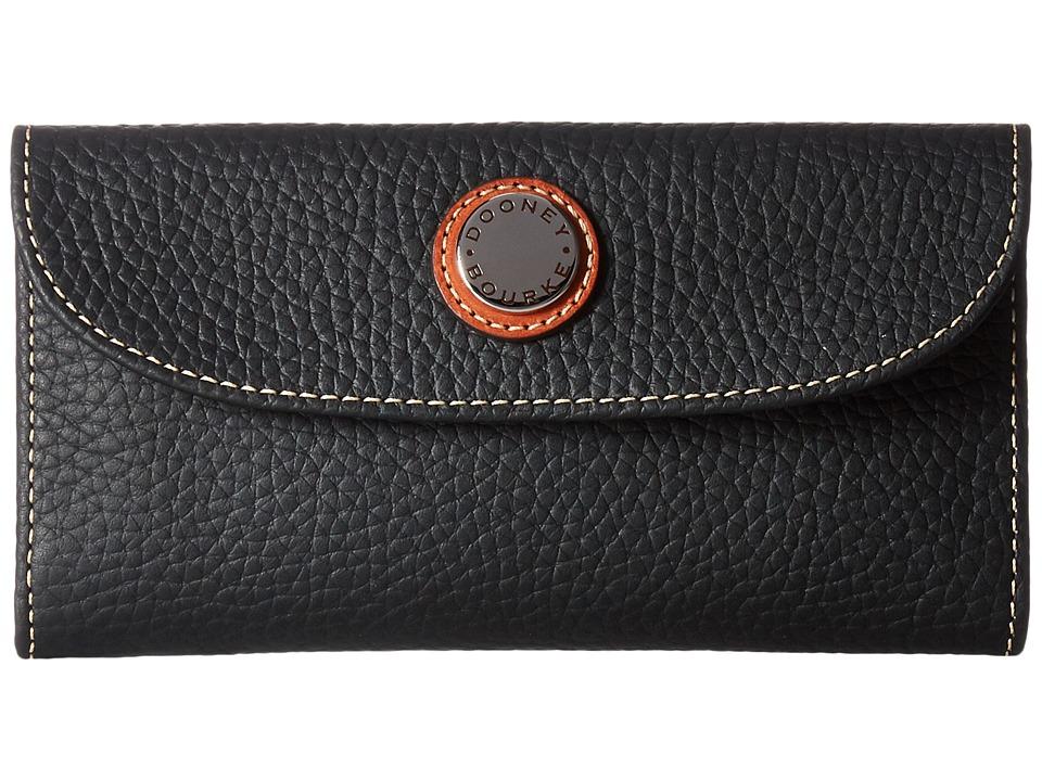 Dooney & Bourke - Cambridge Continental Clutch (Black w/ Tan Trim) Clutch Handbags