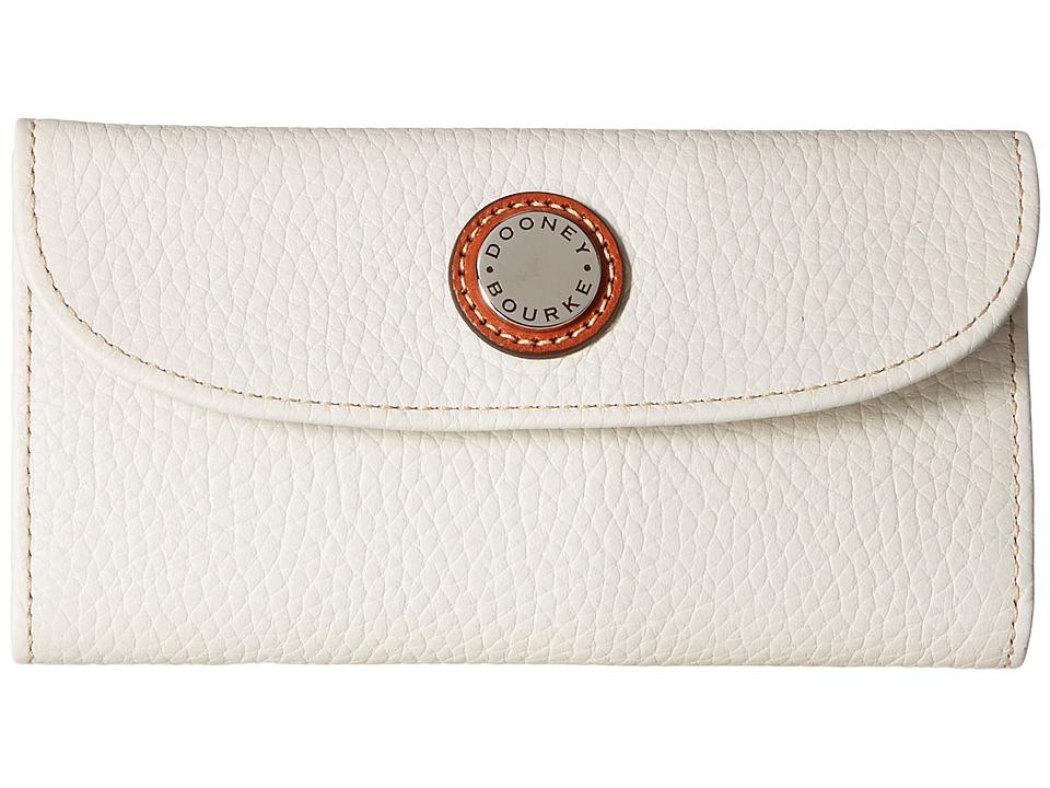 Dooney & Bourke - Cambridge Continental Clutch (Bone w/ Tan Trim) Clutch Handbags