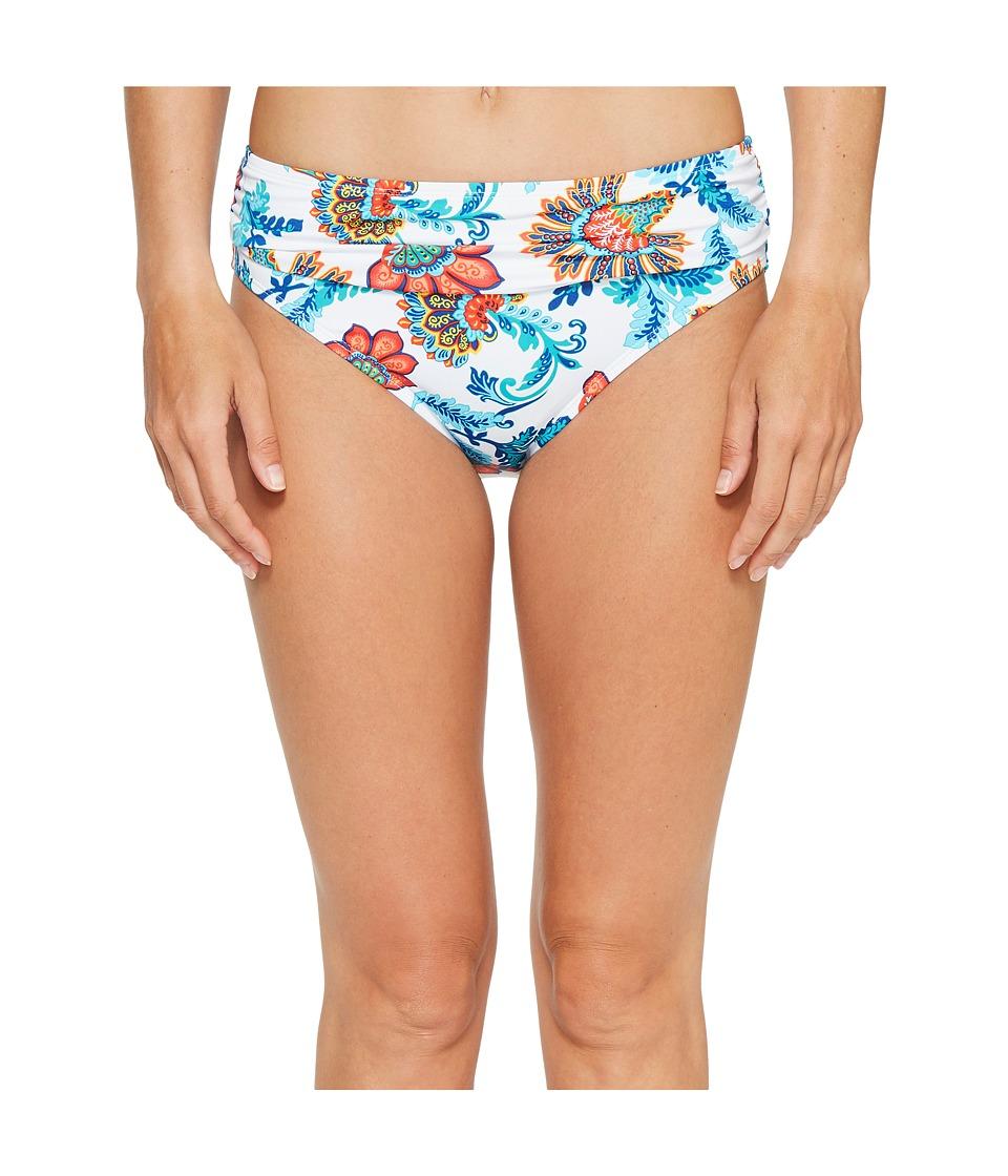 Tommy Bahama - Fira Floral High-Waist Sash Bikini Bottom (White) Women's Swimwear