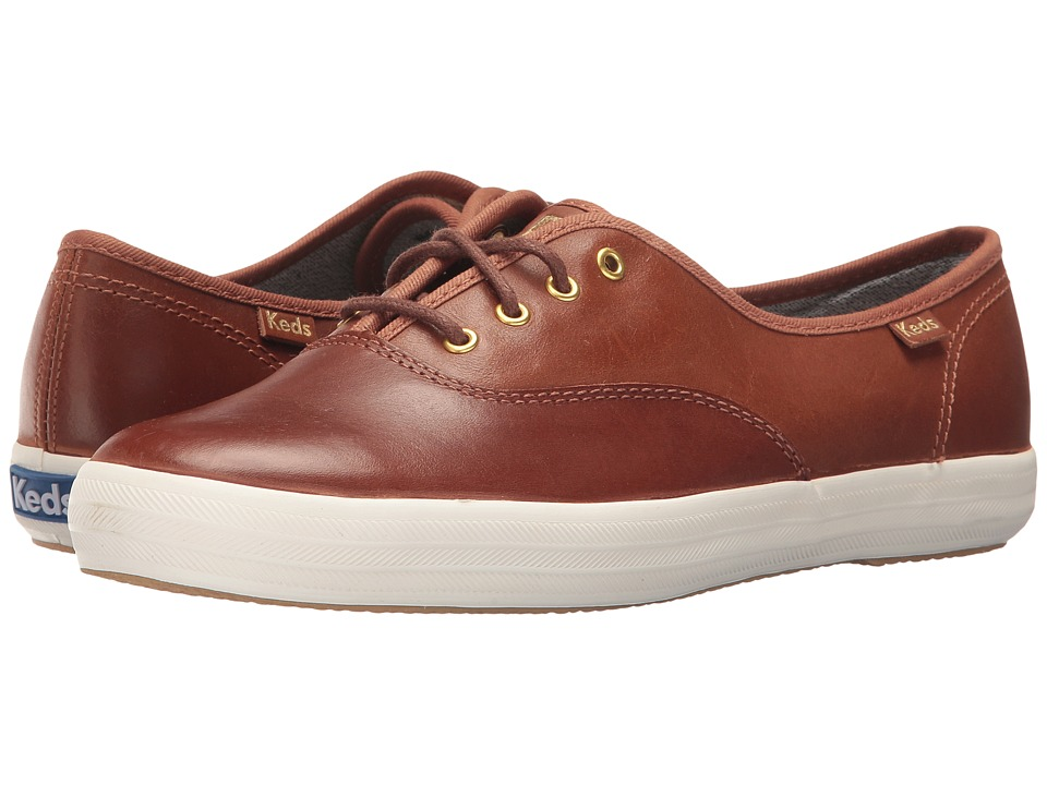 Keds Champion Leather (Cognac) Women